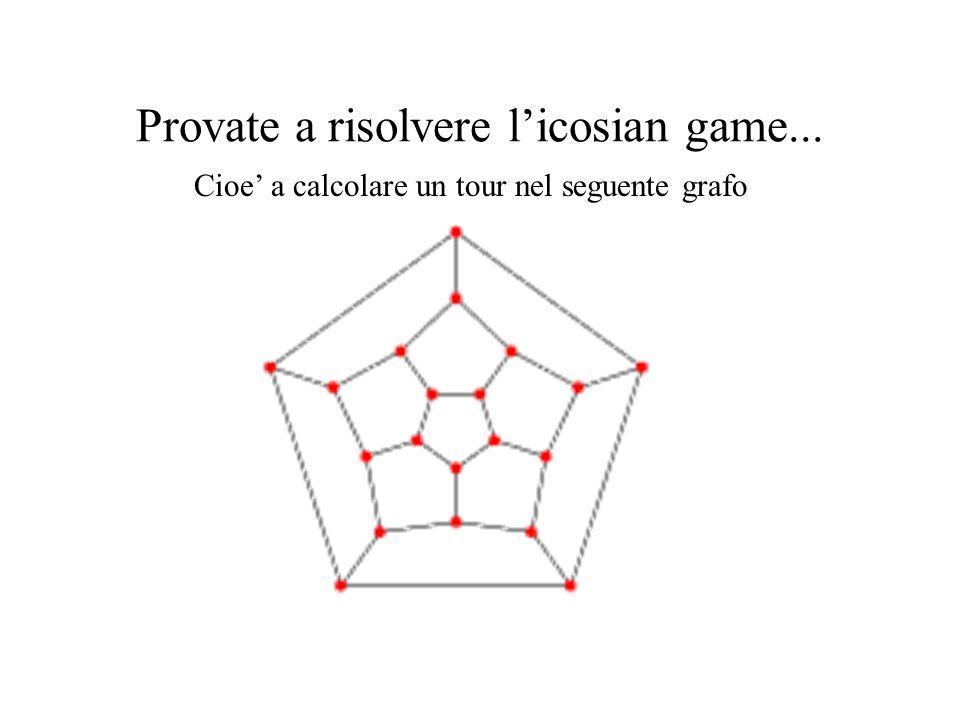 Provate a risolvere l'icosian game...