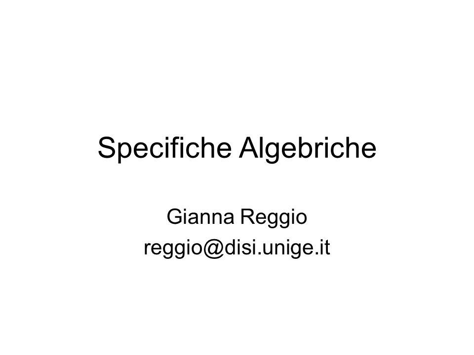 Specifiche Algebriche