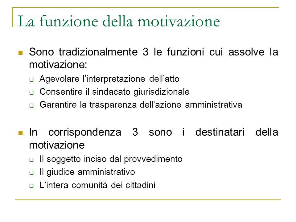 La funzione della motivazione