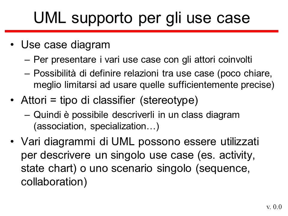 UML supporto per gli use case