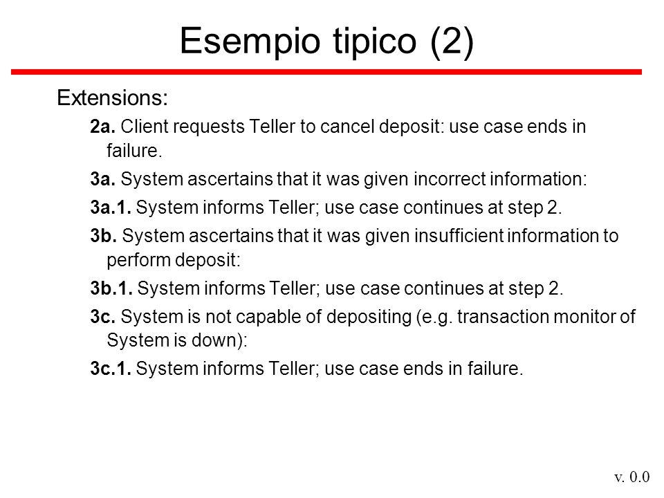 Esempio tipico (2) Extensions: