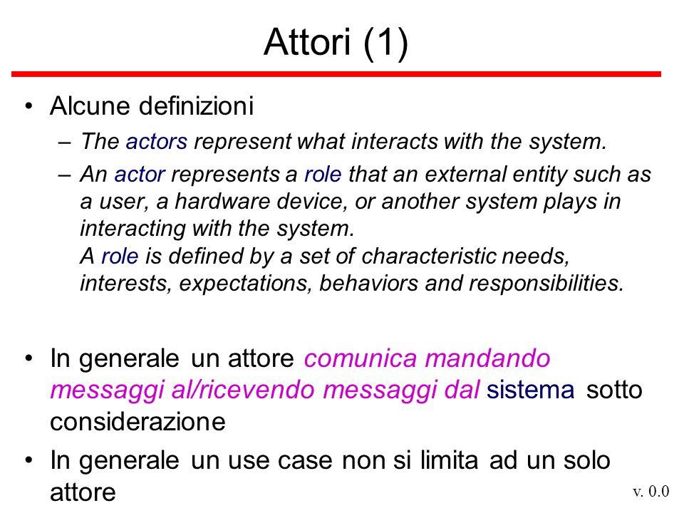 Attori (1) Alcune definizioni