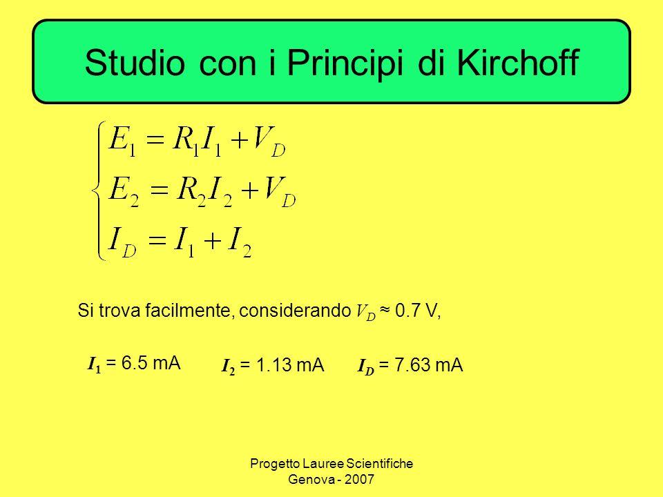 Studio con i Principi di Kirchoff