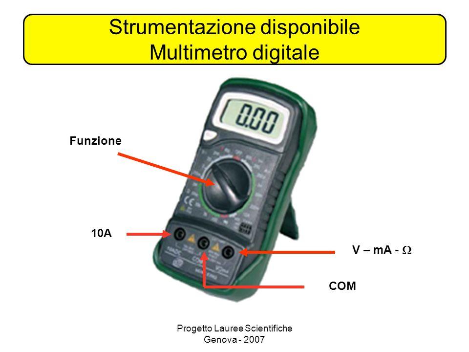 Strumentazione disponibile Multimetro digitale