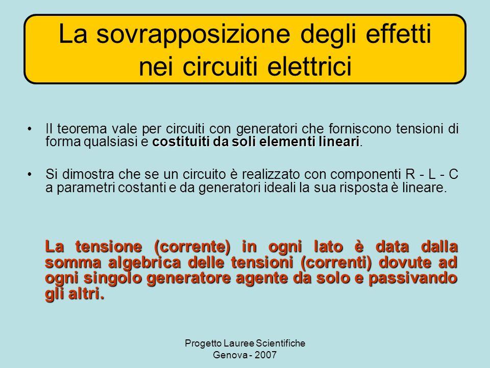 La sovrapposizione degli effetti nei circuiti elettrici