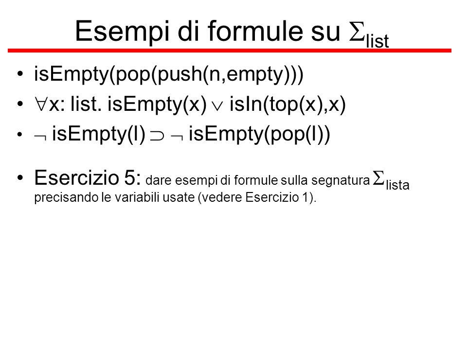 Esempi di formule su Slist