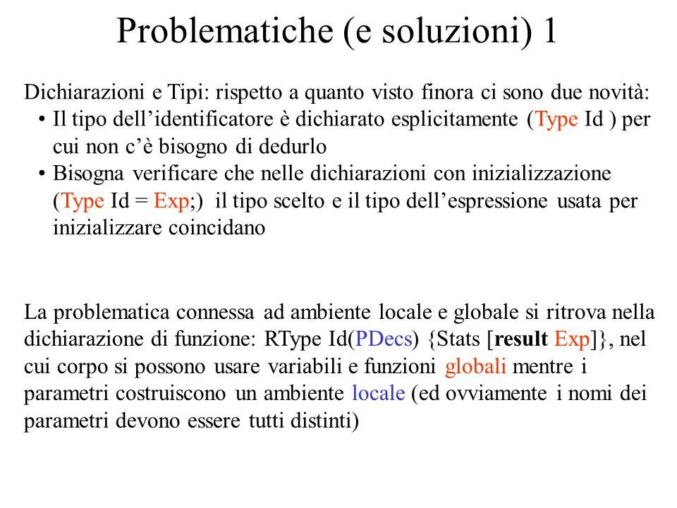 Problematiche (e soluzioni) 1