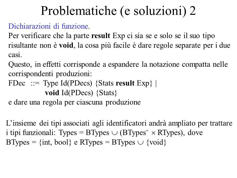 Problematiche (e soluzioni) 2