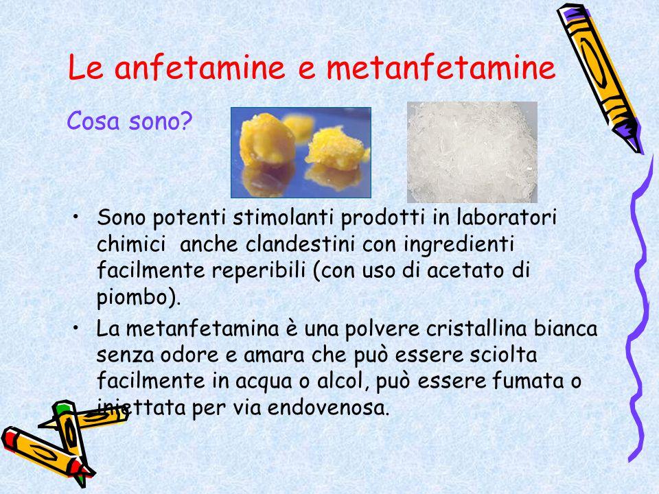 Le anfetamine e metanfetamine