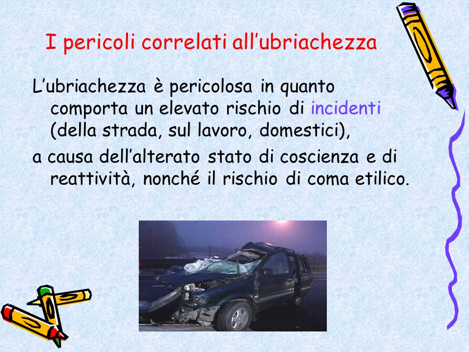 I pericoli correlati all'ubriachezza