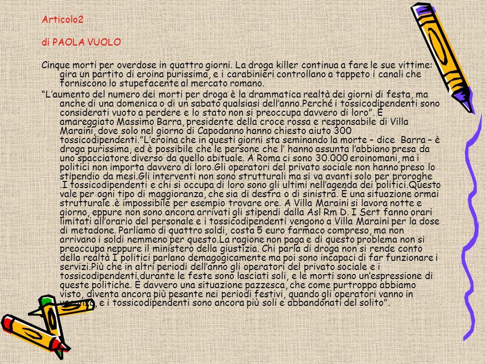 Articolo2 di PAOLA VUOLO.