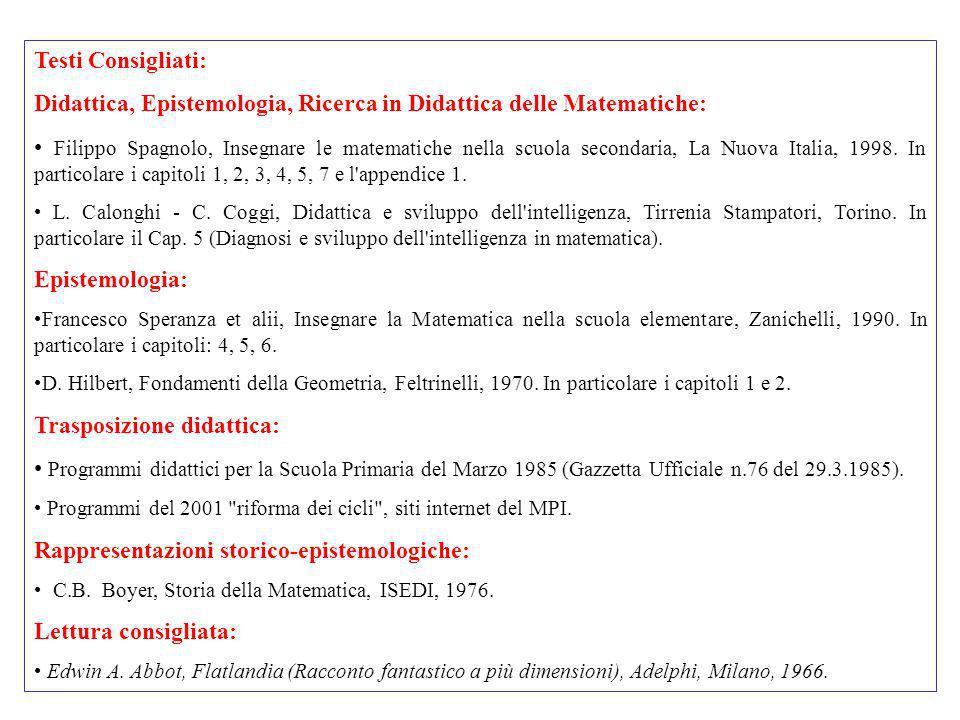 Didattica, Epistemologia, Ricerca in Didattica delle Matematiche: