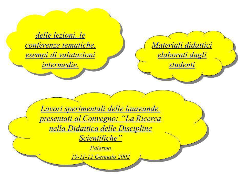 Materiali didattici elaborati dagli studenti