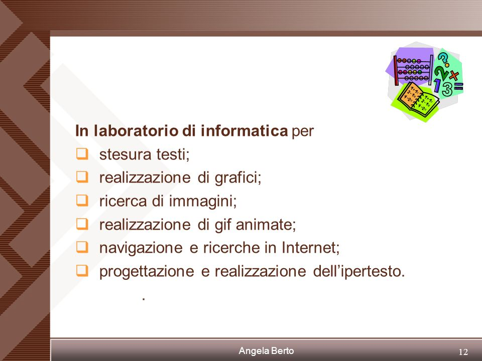 In laboratorio di informatica per