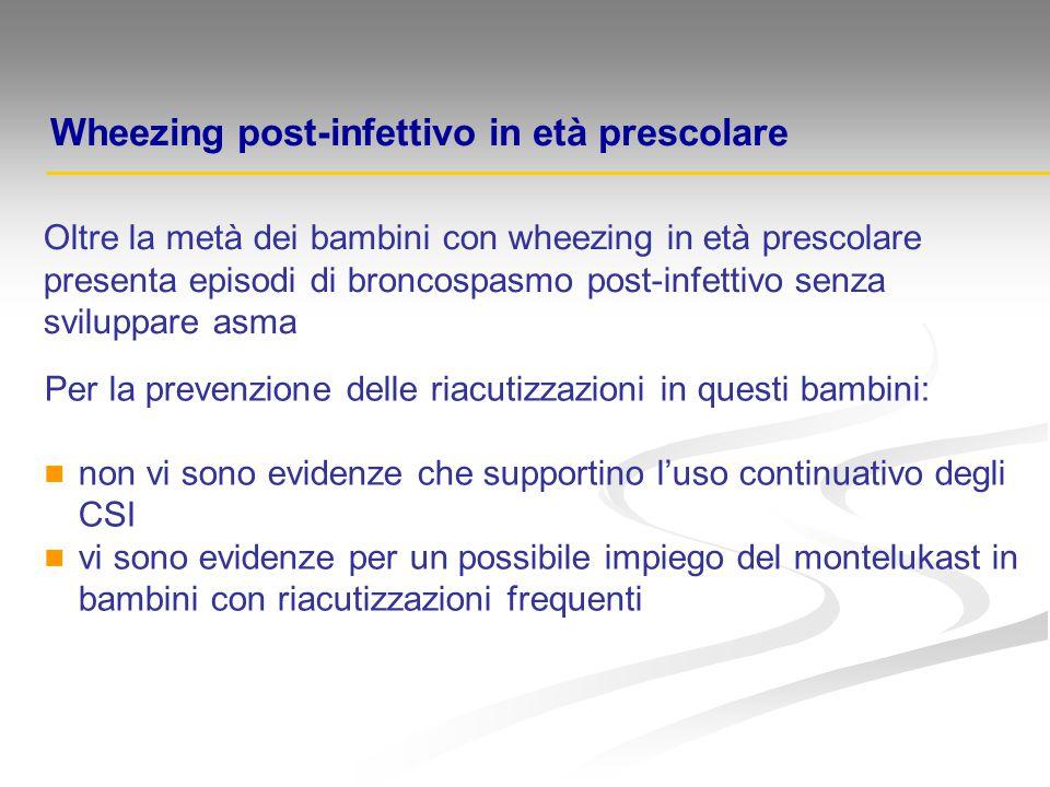 Wheezing post-infettivo in età prescolare