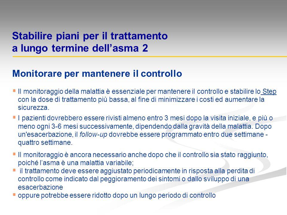 Stabilire piani per il trattamento a lungo termine dell'asma 2