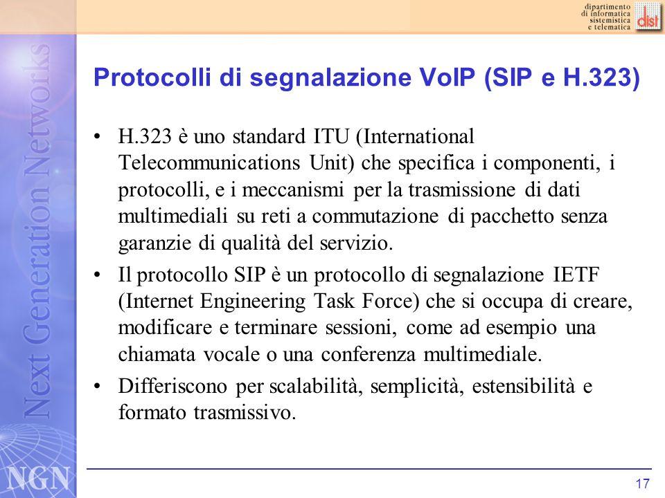Protocolli di segnalazione VoIP (SIP e H.323)