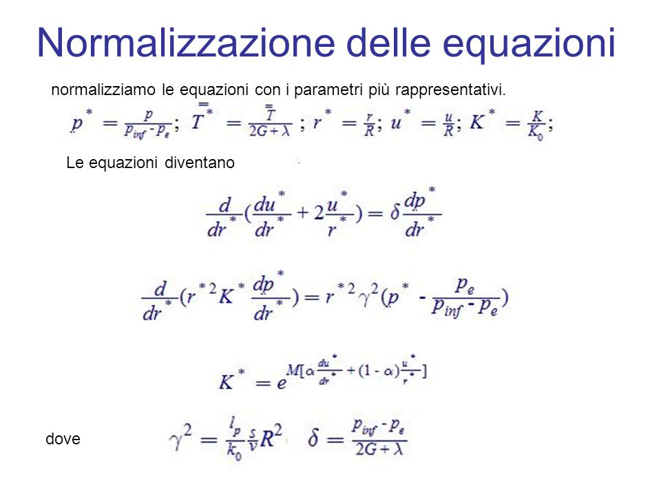 Normalizzazione delle equazioni