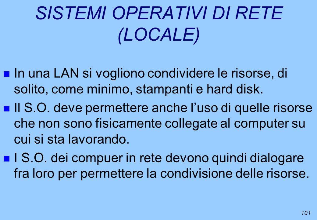 SISTEMI OPERATIVI DI RETE (LOCALE)
