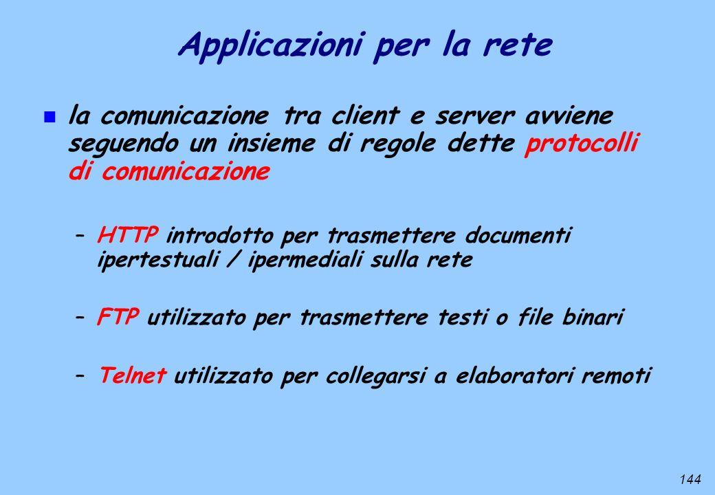 Applicazioni per la rete