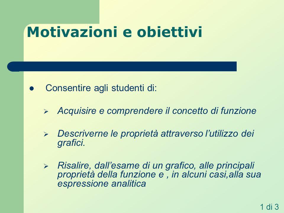 Motivazioni e obiettivi