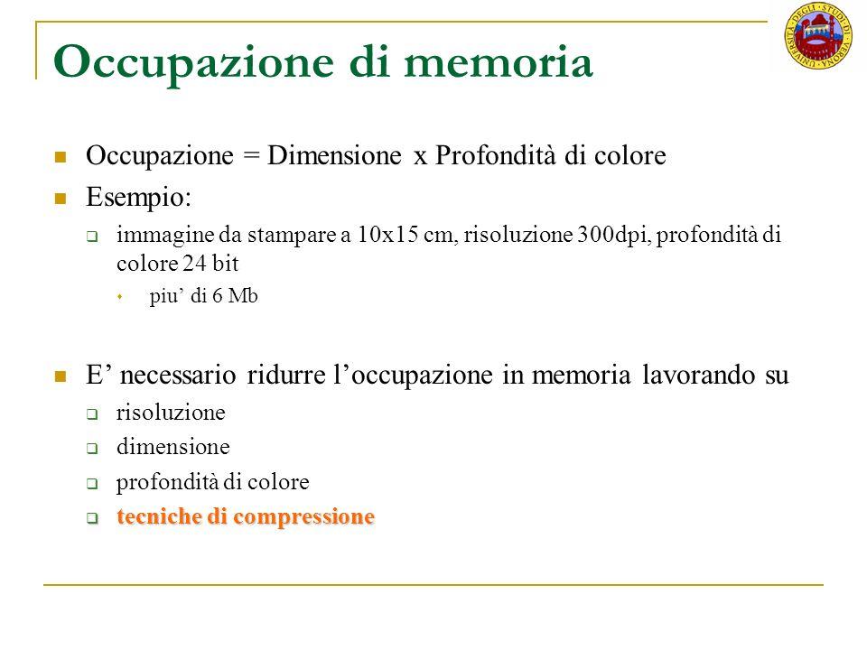 Occupazione di memoria