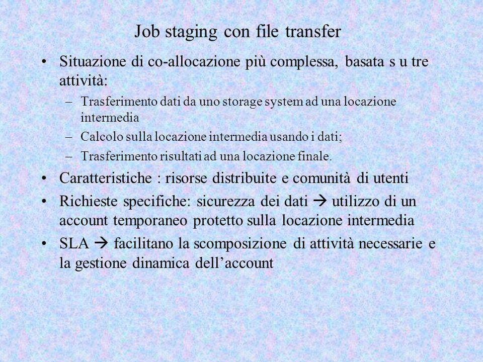 Job staging con file transfer