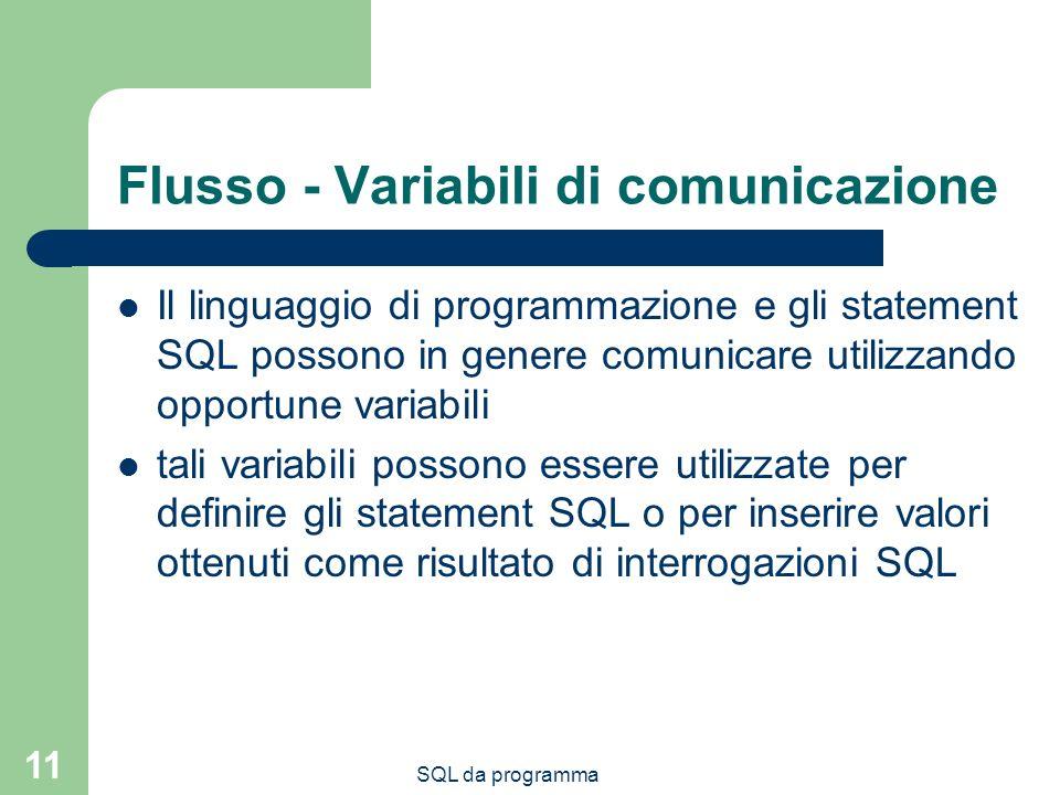 Flusso - Variabili di comunicazione