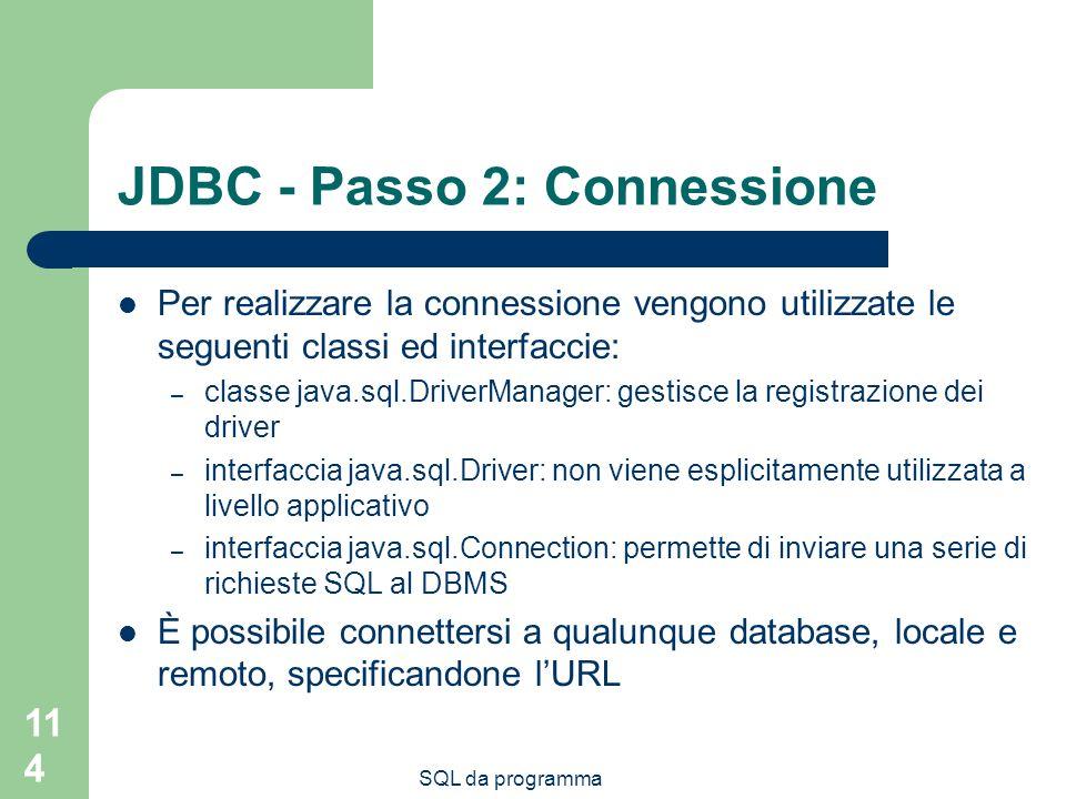 JDBC - Passo 2: Connessione