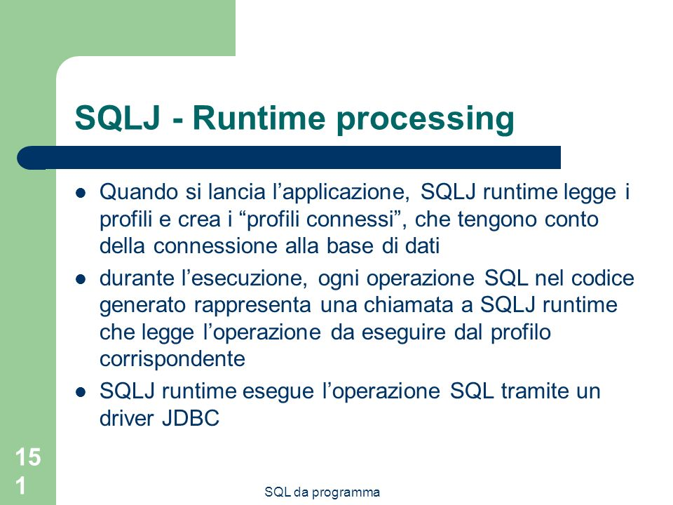 SQLJ - Runtime processing
