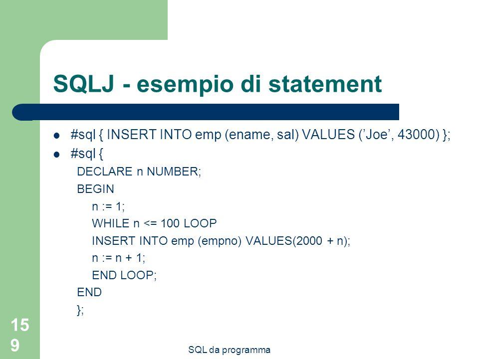 SQLJ - esempio di statement