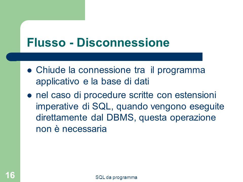 Flusso - Disconnessione