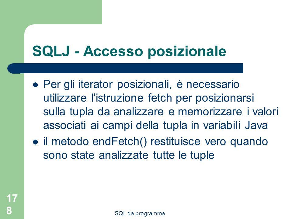 SQLJ - Accesso posizionale