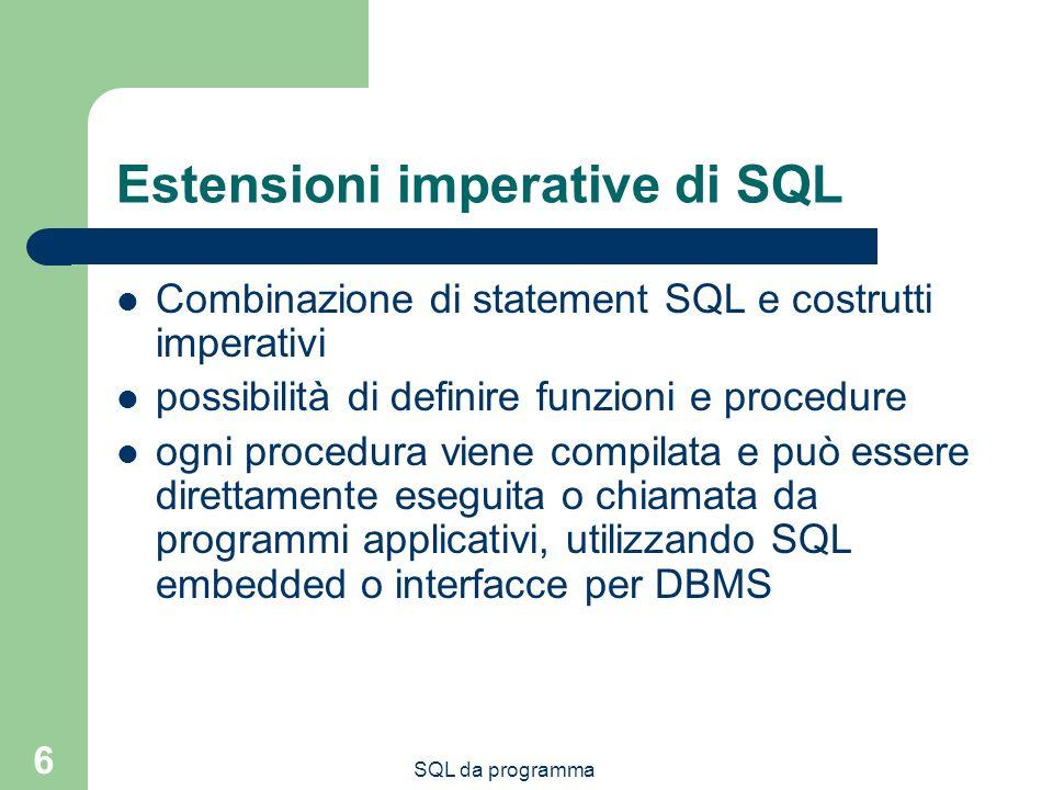 Estensioni imperative di SQL