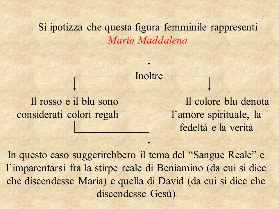 Si ipotizza che questa figura femminile rappresenti Maria Maddalena