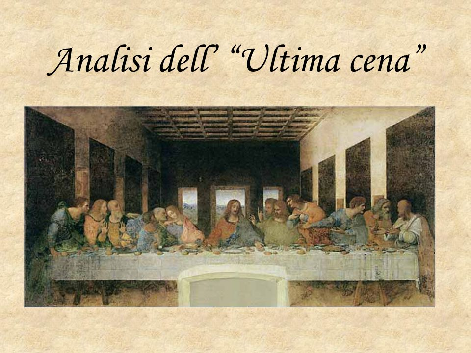 Analisi dell' Ultima cena