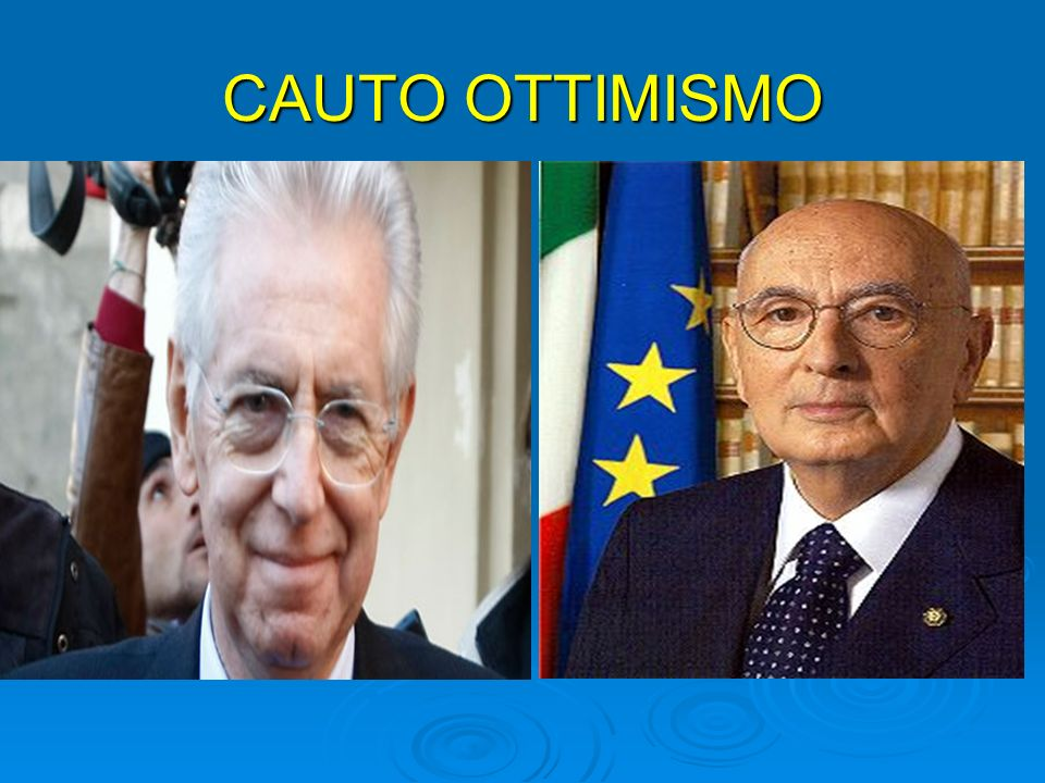 CAUTO OTTIMISMO