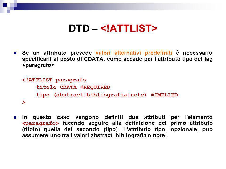 DTD – <!ATTLIST>