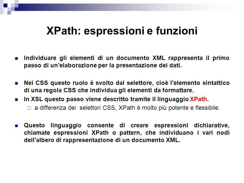 XPath: espressioni e funzioni