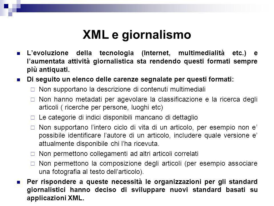 XML e giornalismo
