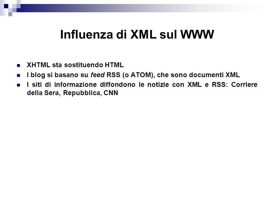 Influenza di XML sul WWW