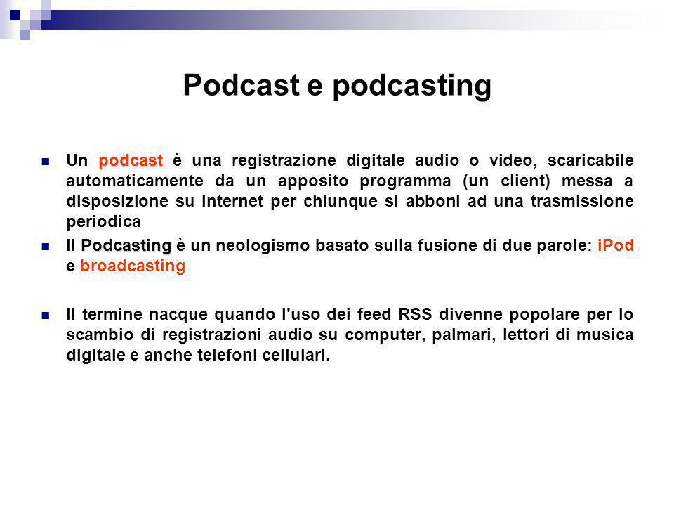 Podcast e podcasting