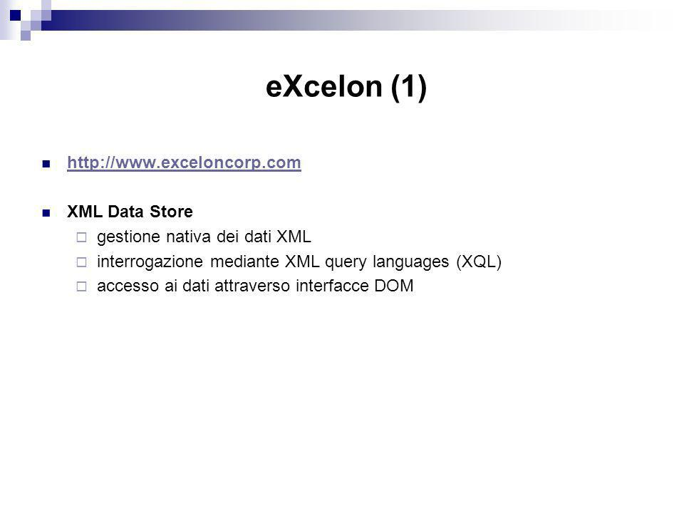 eXcelon (1)   XML Data Store