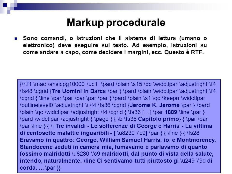 Markup procedurale