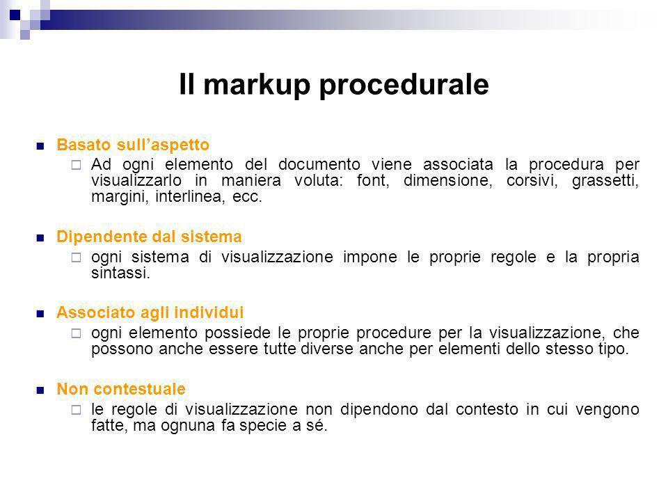 Il markup procedurale Basato sull'aspetto