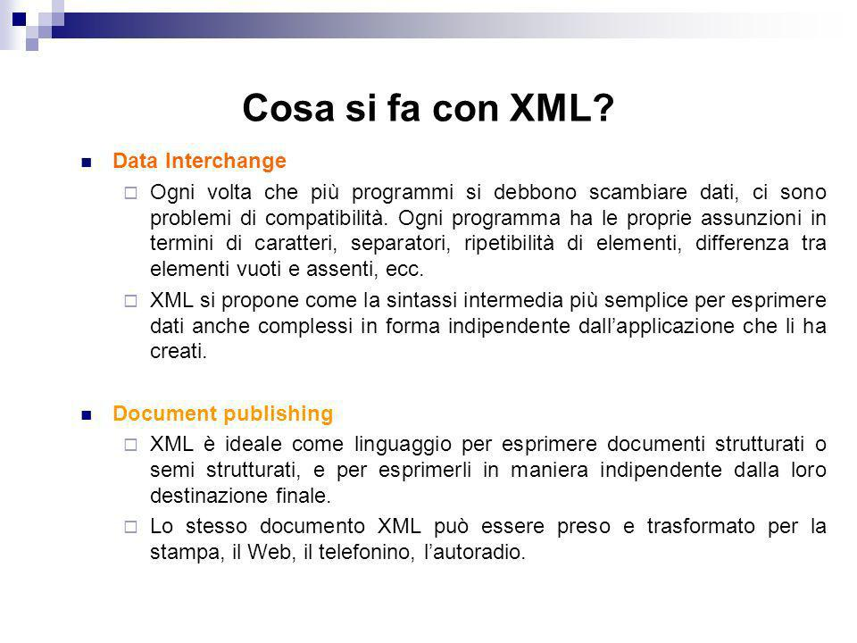 Cosa si fa con XML Data Interchange