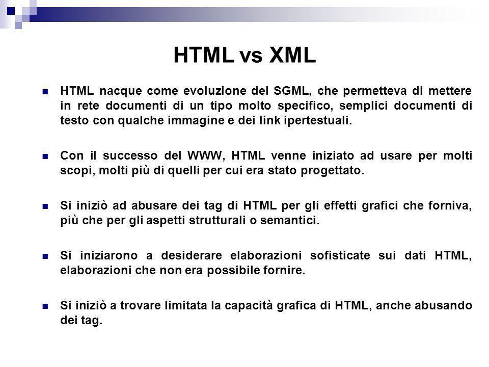 HTML vs XML