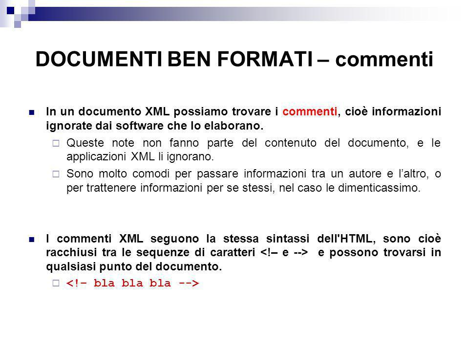 DOCUMENTI BEN FORMATI – commenti