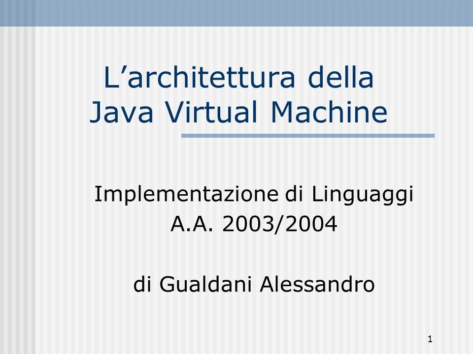 L'architettura della Java Virtual Machine