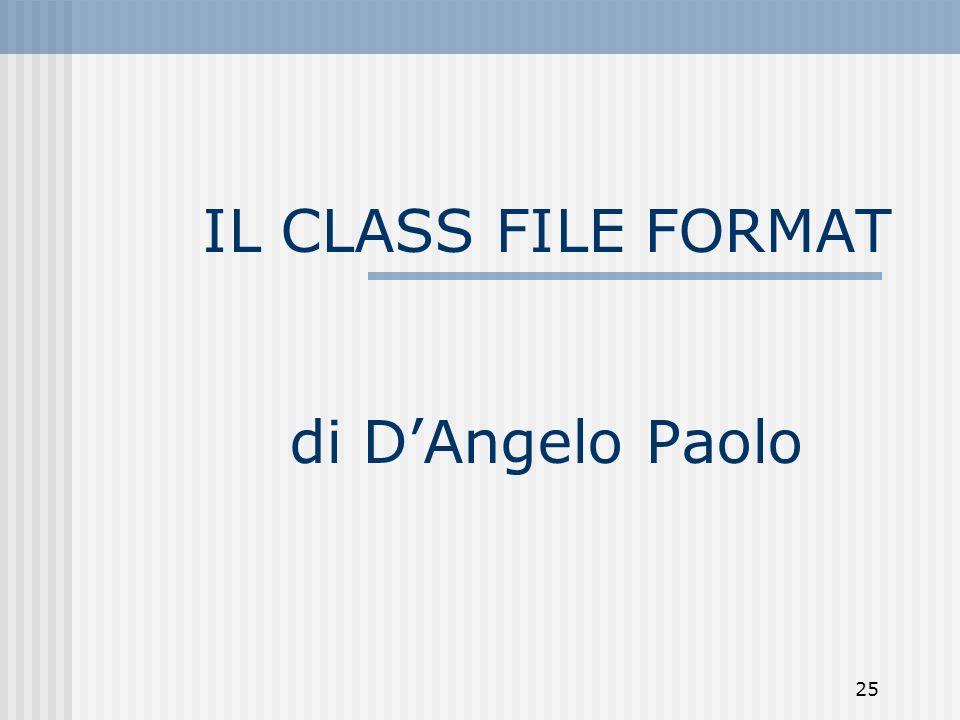 IL CLASS FILE FORMAT di D'Angelo Paolo